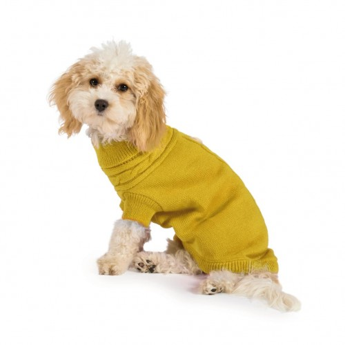Cosy Mustard Cable Knit Jumper