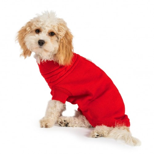 Luxurious Red Cable Knit Jumper