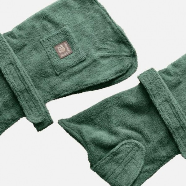 Green Towelling Robe for Dogs