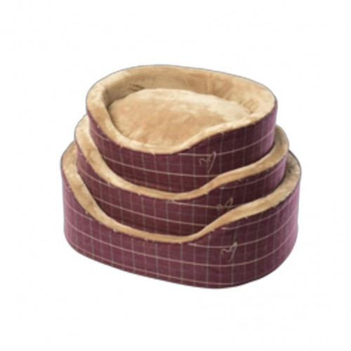 Wine Premium Checkered Bed