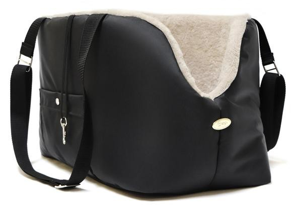 Pet Rainy Carrier in Black and Beige