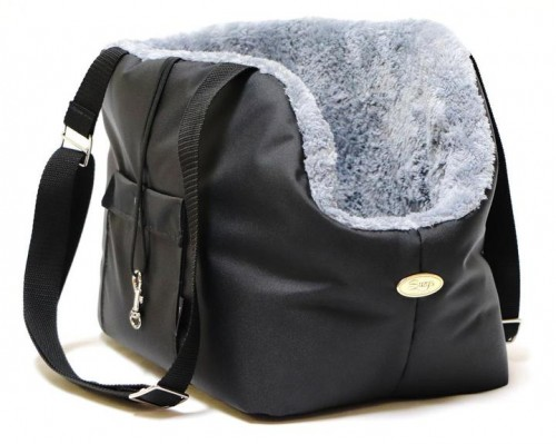Black and Grey Dog Rain Carrier
