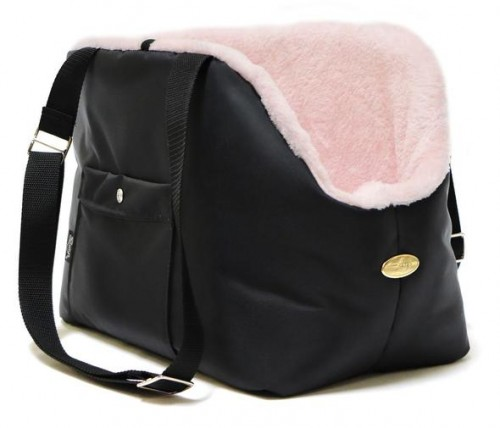 Perfect Black and Pink Dog Carrier