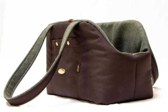 Green Cashmere Lining Dog Carrier