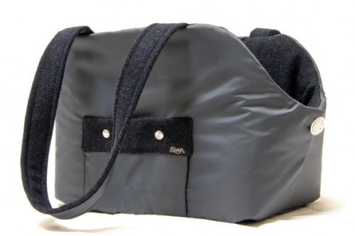 Grey and Blue Dog Carrier