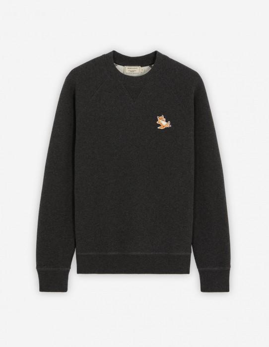 Anthracite Melange Classic Fox Patch Sweatshirt