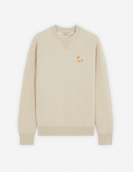 Beige Melange Classic Fox Patch Sweatshirt
