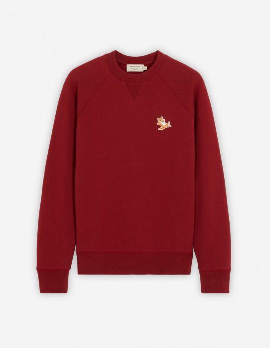 Dark Red Fox Patch Classic Sweatshirt