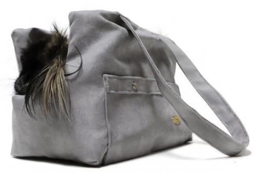 Reversible Grey Dog/Pet Carrying Bag
