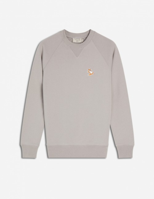 Light Grey Sweatshirt Fox Patch