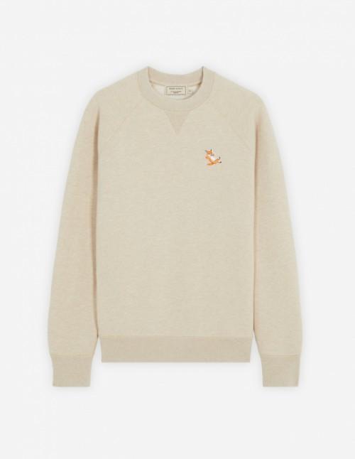 Beige Melange Classic Fox Patch Sweatshirt