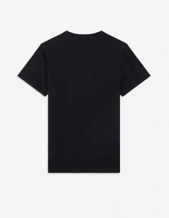 Black Tee-Shirt Fox Patch