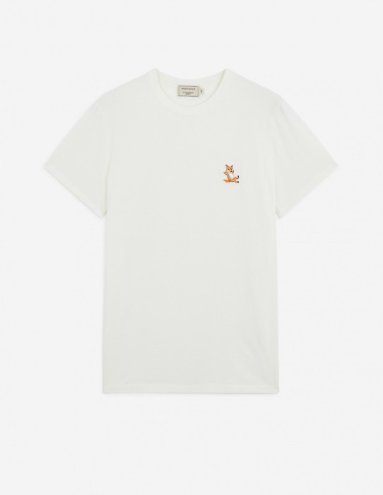 Tee-Shirt Fox Patch in Latte