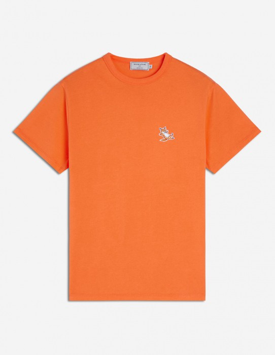 Orange Tee-Shirt Fox Patch