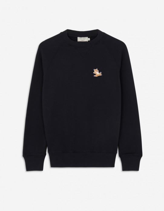 Fox Patch Sweatshirt in Black