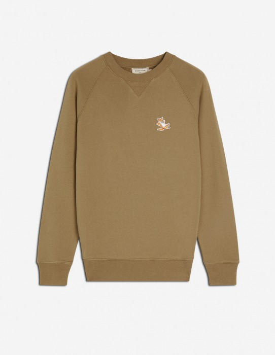 Khaki Fox Patch Sweatshirt