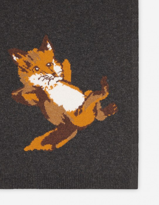 Anthracite Melange Fox Scarf