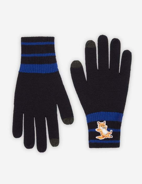 Blue Fox Striped Gloves
