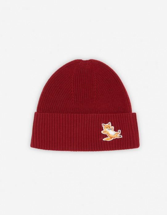 Dark Red Fox Beanie + Scarf Gift Box
