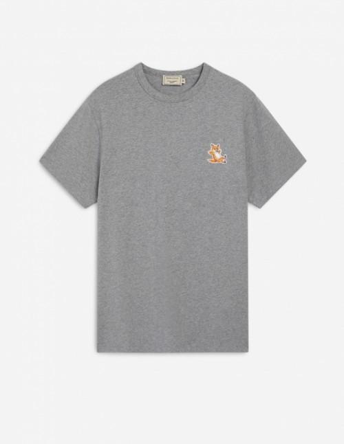 Grey Navy Tee-Shirt Fox Patch