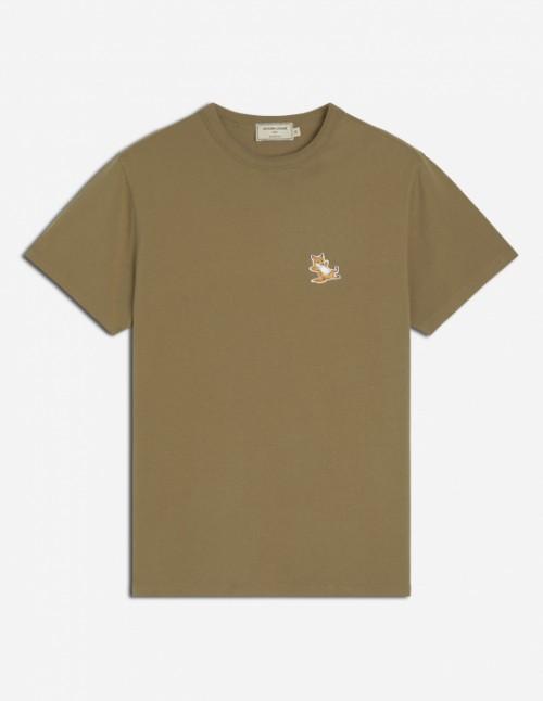 Light Khaki Tee-Shirt Fox Patch