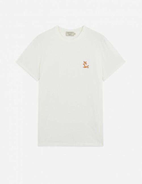 Tee-Shirt Fox Patch in Latte