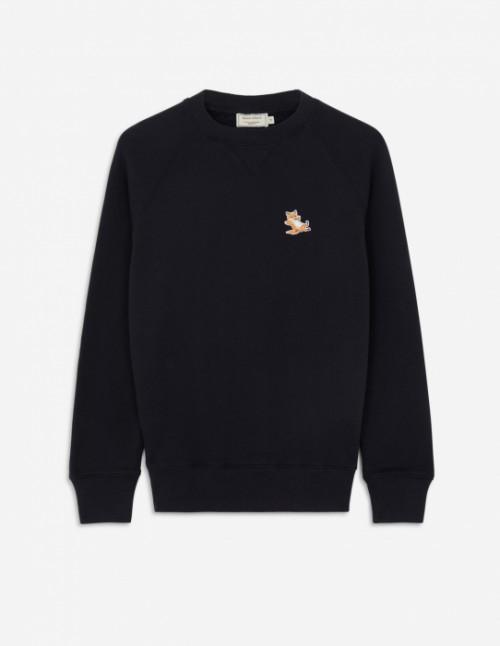 Fox Patch Sweatshirt in Black