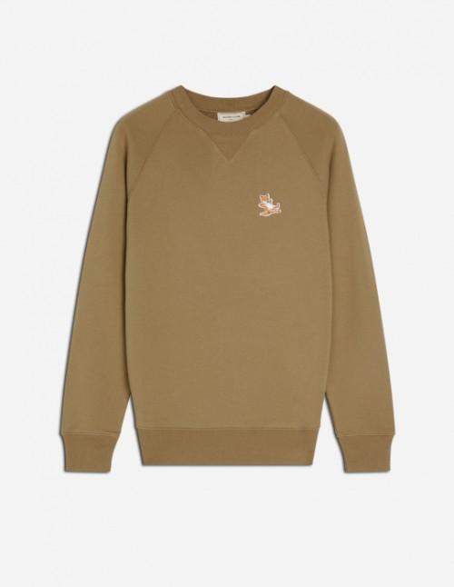 Khaki Fox Patch Sweatshirt