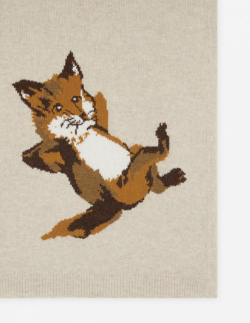 Beige Melange Fox Scarf