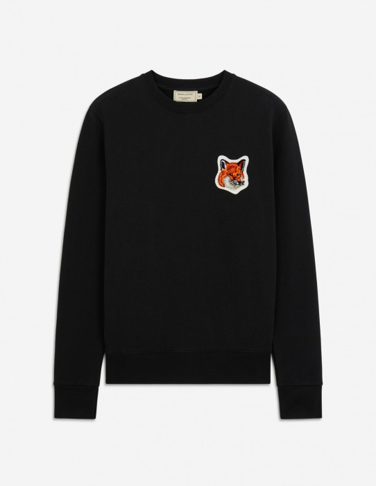 Black Velvet Fox Head Patch Classic Sweatshirt