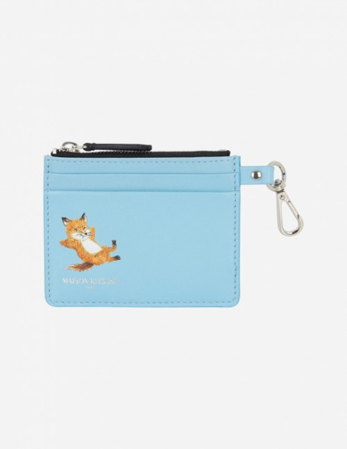 Blue Zipped Card Holder