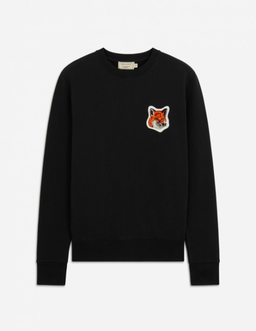 Black Velvet Fox Head Patch Classic Sweatshirt