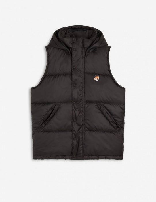 Black Sleeveless Down Jacket