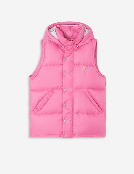 Pink Sleeveless Down Jacket