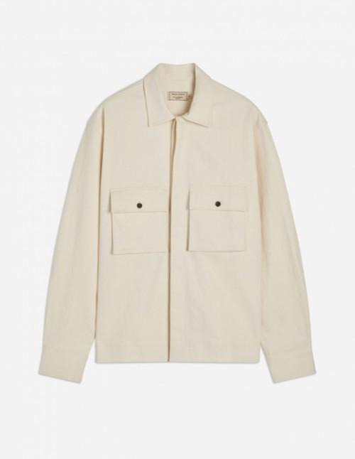 Ecru Cotton Overshirt
