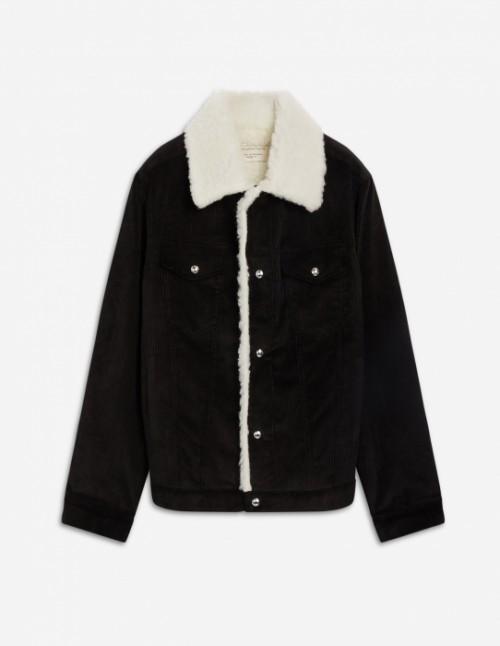 Black Corduroy Cowboy Jacket