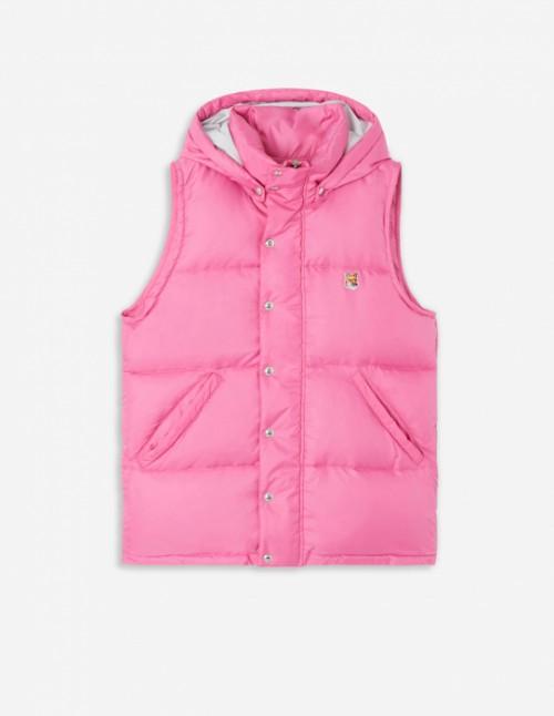 Pink Sleeveless Down Jacket