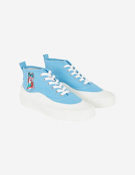 Light Blue Unisex High-Top Sneaker