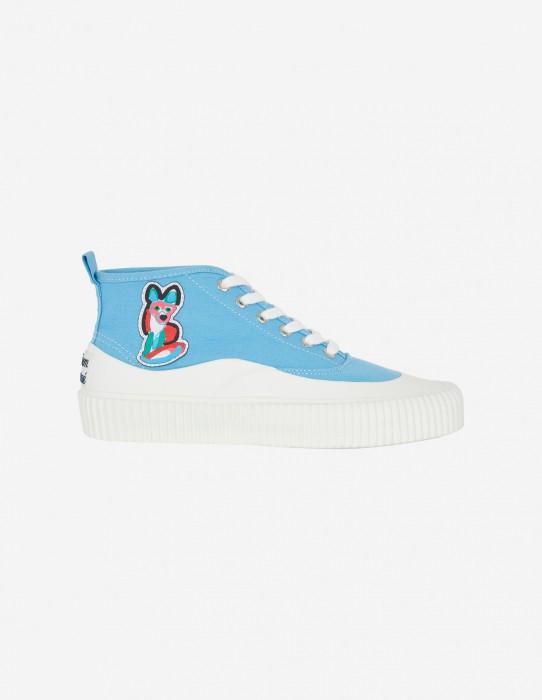 Light Blue Unisex High-Top Sneaker