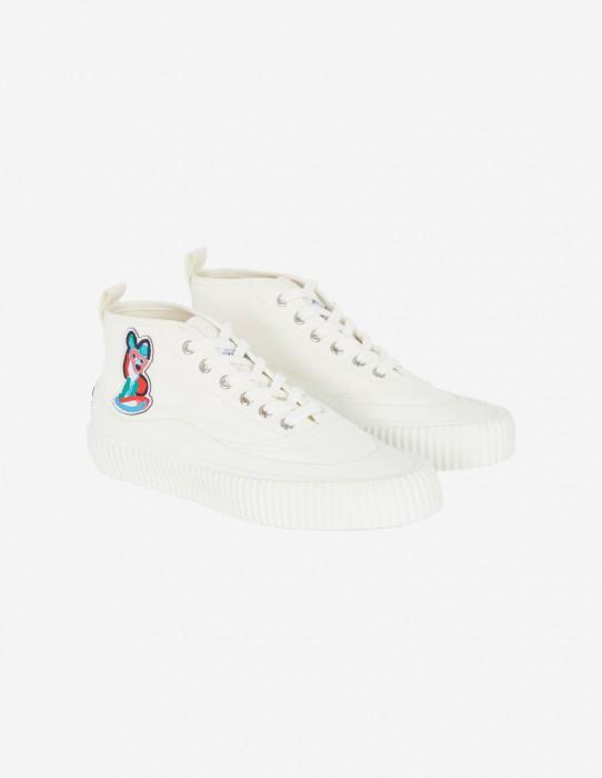 White Unisex High-Top Sneaker
