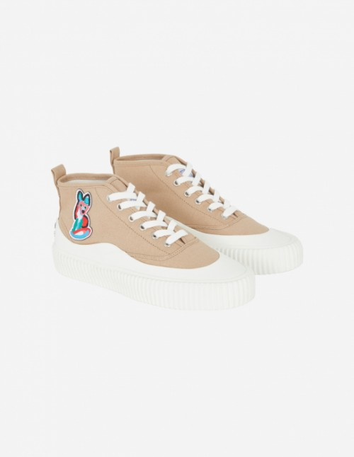 Beige Unisex High-Top Sneaker