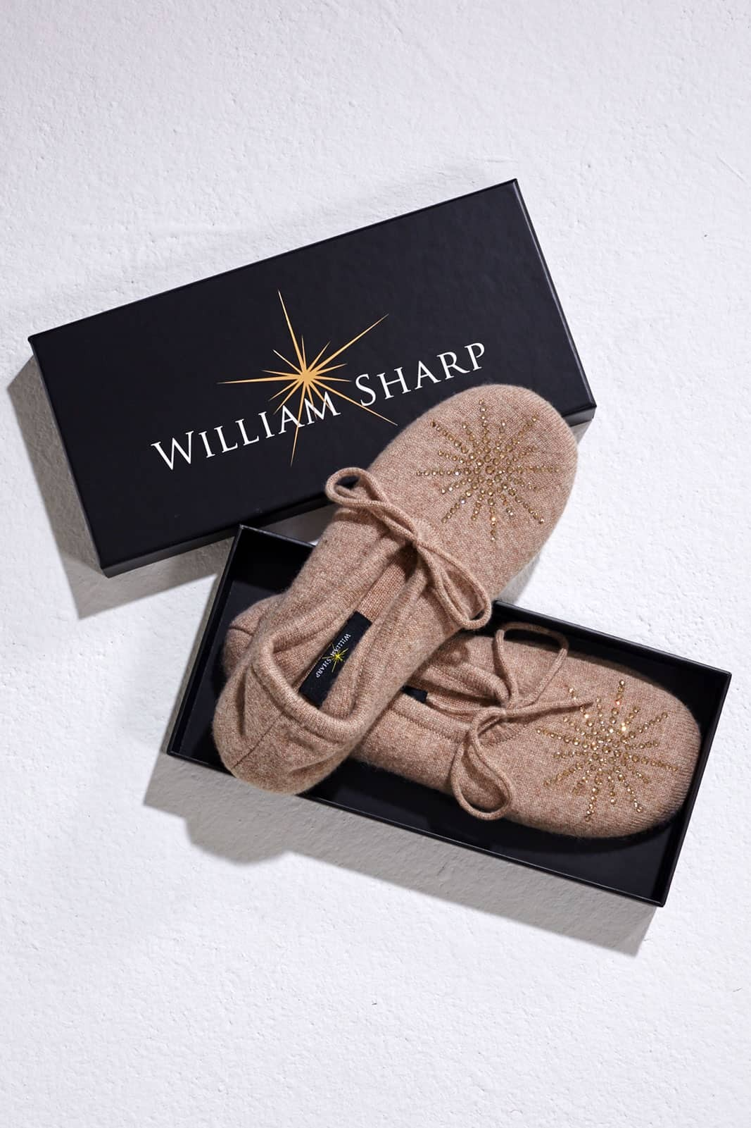 Pretty Light Brown Slipper with Classic Star