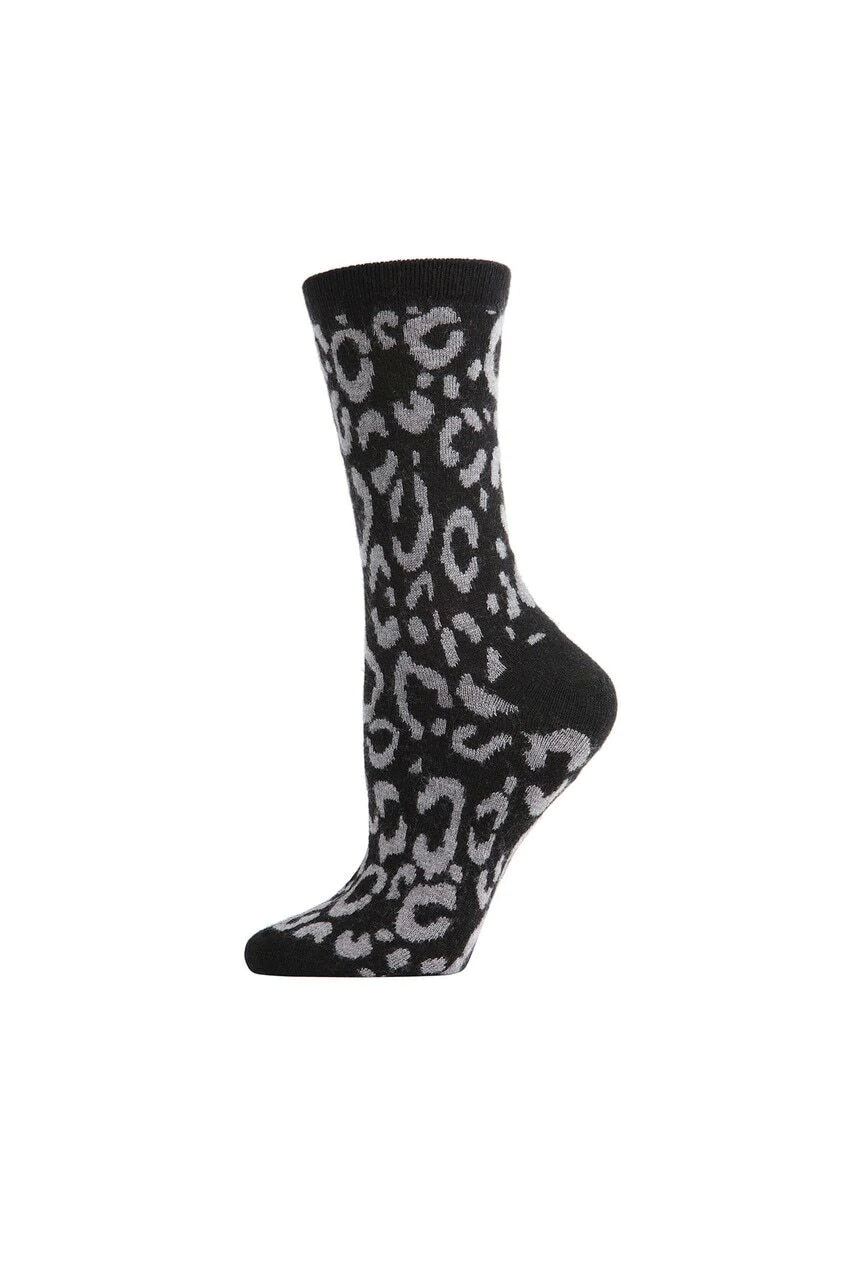 Black Animal Print Socks