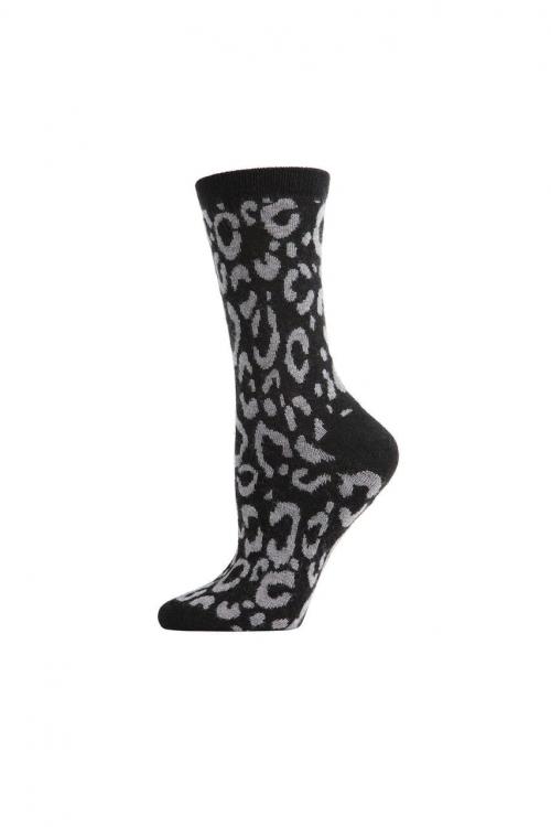 Black Animal Print Socks