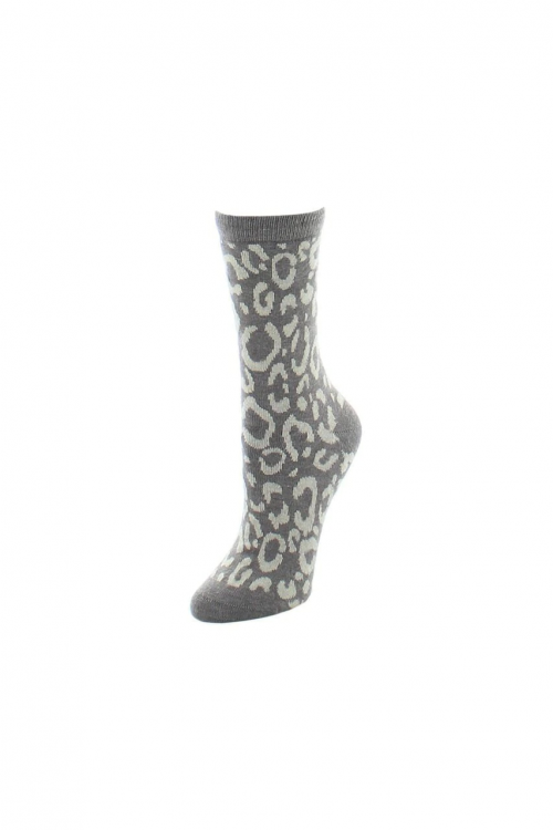 Dark Taupe Animal Print Socks