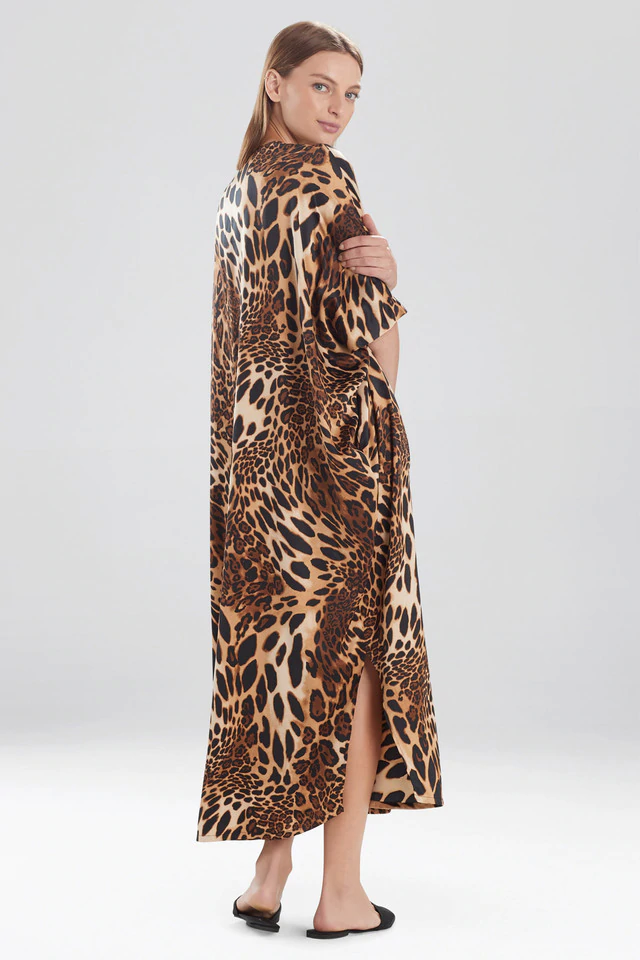Exclusive Leopard Zip Caftan