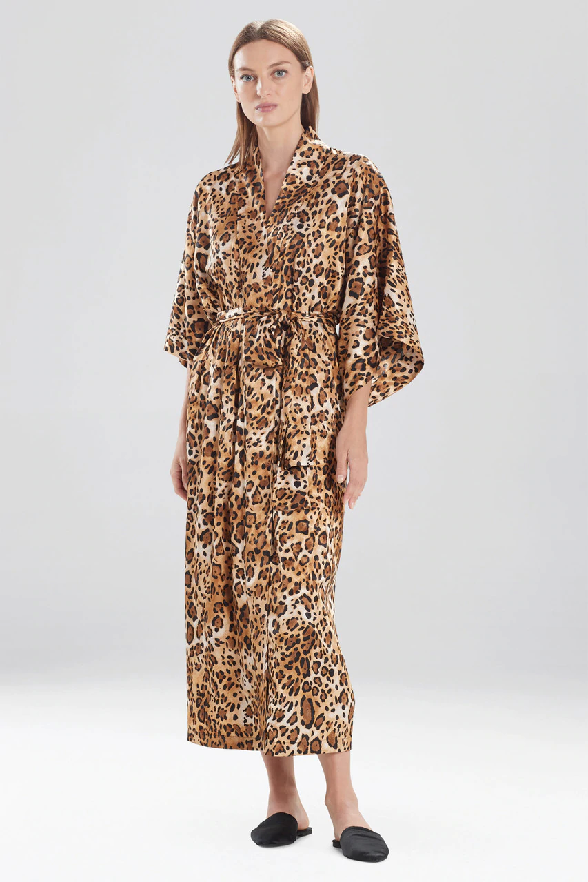 Cheetah Robe in Frosted Café
