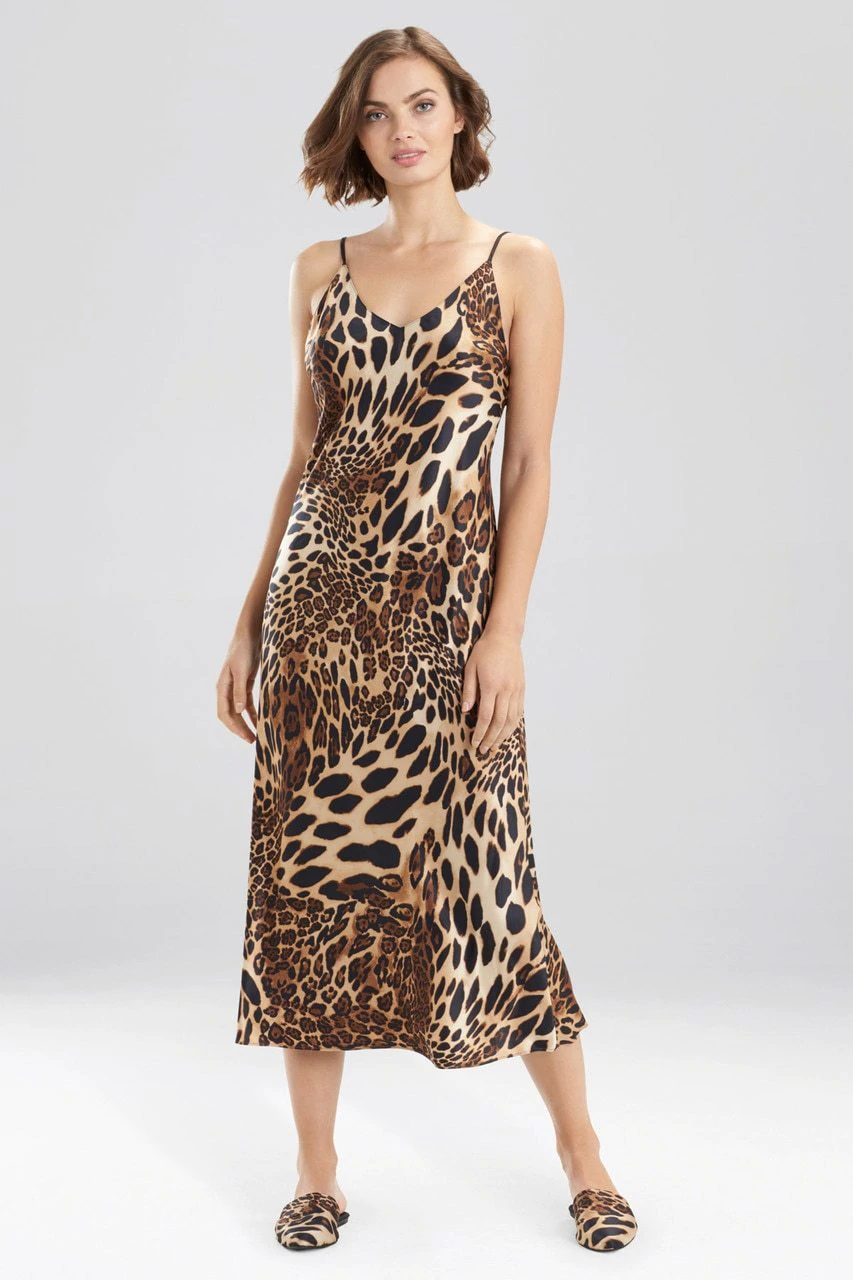 Luxurious Chestnut Leopard Gown