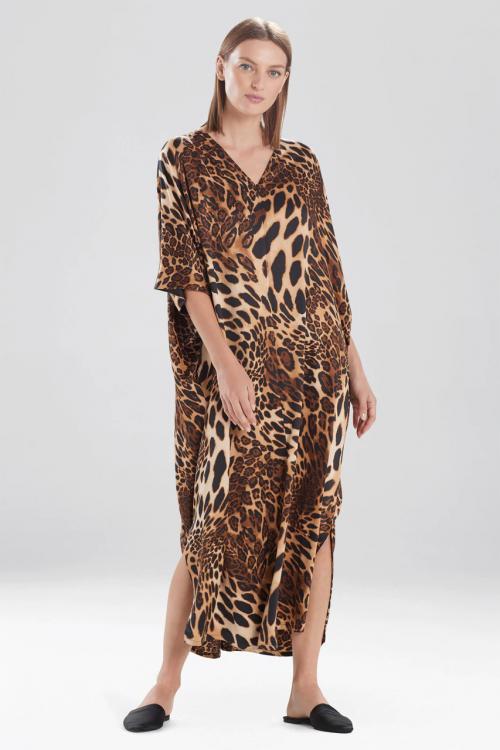 Exclusive Leopard Zip Caftan