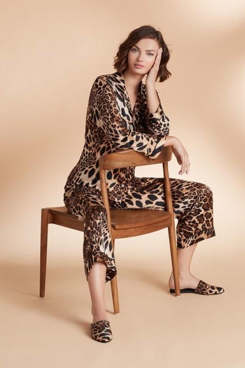 Luxurious Chestnut Leopard Mules